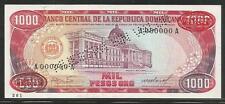 Dominican Republic 1000 Pesos Oro 1985 Specimen Unc
