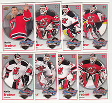 2009-10 UD UPPER DECK SERIES 1 MARTIN BRODEUR HOCKEY HEROES SET HH10-17 DEVILS !