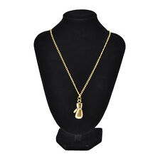 New Fashion Men's Women's Stainless Steel Boxing Glove Pendant Necklace Chain UK