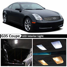 9x White LED Lights Interior Package 2003-2007 G35 Coupe + TOOL