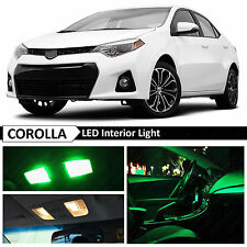 2015 & up Toyota Corolla Green Interior LED Light Package Kit + TOOL