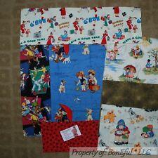 BonEful Fabric COTTON SCRAP QUILT LOT Child Baby Play VTG OOP Michael Miller Dog