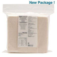 MUJI MoMA 100% ORGANIC UNBLEACHED Cotton Pads 180 sheets Made in JAPAN