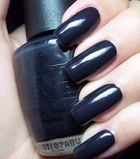 New OPI Classic SUZI SKIS IN THE PYRENEES Dark Blue Grey Nail Polish Lacquer E47