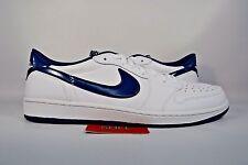 NEW Nike Air Jordan I 1 Retro Low OG WHITE MIDNIGHT NAVY 705329-106 sz 15