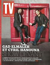 TV MAGAZINE N°22235 7 FEVRIER 2016 HANOUNA&ELMALEH/SERIES TV/ BONNETON/KOH-LANTA