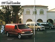 1997 Ford ECONOLINE VAN Brochure w/Color Chart : CONVERSION,CLUB WAGON,E-150,250