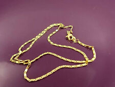 18K Gold Filled Unique Italian Smooth Snail Link 18ct GF Necklace Chain 46cm