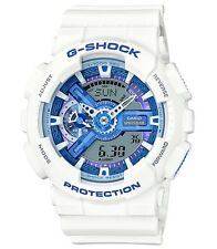 Casio G Shock * GA110WB-7A White with Blue Anadigi Gshock Watch COD PayPal