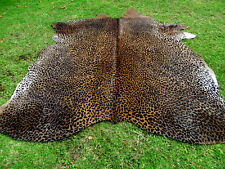 NEW LEOPARD CHEETAH Print /Printed COWHIDE SKIN Rug steer COW HIDE - DC5122