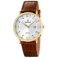 Uhr FESTINA Herrenuhr Analog Quarz Leder Armband braun Klassik Uhr UF16478/3