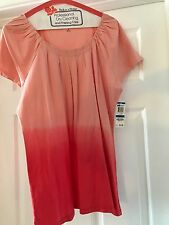 Style & Co. Two-Toned Peach Cap-Sleeved Peasant Tee Size XL - NWT