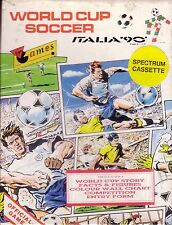 World Cup Soccer Italia '90 (Virgin) Spectrum 48k Game - Small Box - GC Complete