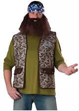 DUCK DYNASTY WILLIE Adult Costume Vest & Beard ONE SIZE NEW NIP