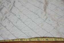 "32"" by 50"" Wide Silk Taffeta Fabric-Embroidered & Pearled  Ivory 100% Silk"