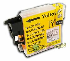 Compatible Yellow LC985 (LC39) Ink Cartridge for Brother DCP-J125 Printer