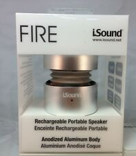 iSound Fire Aluminum 3.5mm Rechargeable Portable Speaker – Silver- ISOUND-1687