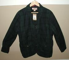 FILSON Guide Work Jacket Coat Black Watch Pattern Waxed LARGE New with Tags $495
