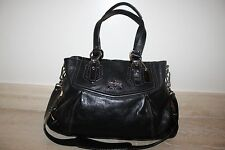 Authentic   COACH Madison Mia BLACK LEATHER TOTE  SHOULDER BAG - 14574