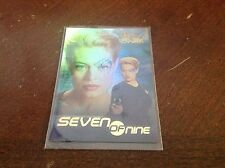 STAR TREK WOMEN VOYAGER SEVEN OF NINE 7 OF 9  PROMO CARD 2001