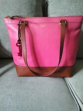 FOSSIL Mother's Day Leather Shopper/Tote Bag Pink NWT
