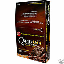 Quest Bar Chocolate Brownie (12 Bars) Protein Bar  (Best By Date 02/2016)