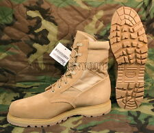 Mens US Military THOROGOOD Coolmax Desert Tan Steel Toe Combat Boots 14.5 W NIB