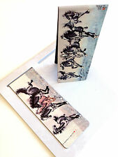 Set of 2 Magnetic Bookmark Famous  Ancient Chinese Ink Painting Horses Animal