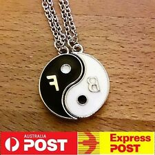 NEW Best Friends Forever Necklace Yin Yang BFF Set Pendant Friendship Couples