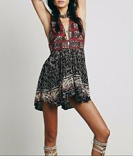 134164 New Free People Printed Heat Wave Printed High & Low Tunic Dress XS