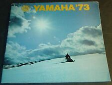 "1973 YAMAHA SNOWMOBILE SALES BROCHURE LARGE 11"" x 11""   & 22 PAGES  (488)"