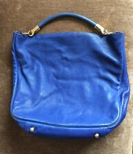 YSL Roady w/Leather Stingray Handle Hobo Bag Pigeon Blue