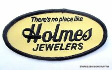 "HOLMES JEWELERS EMBROIDERED SEW ON PATCH RING WATCH DIAMOND 3 1/4"" x 1 1/2"""