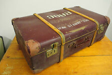 Vintage Retro Steamer Suitcase Trunk RAOC Royal Army Ordinance Corps Sgt Jarvis
