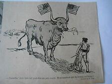 1895  Caricature Print Caramba ! Corrida Le taureau face au matador