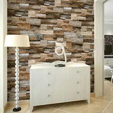 3D Modern Slate Stone Brick Effect Wallpaper Wall Textured Vinyl wallpaper Decor