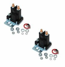 (2) New RELAY SOLENOIDS for Western Fisher Meyers Snowplows 4 Post w/ Hardware