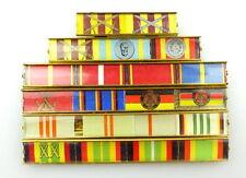#e3417 6 reihige 21er Spange für Kampforden G,S,B Vdm NVA G,S,B Hufeland Gold...