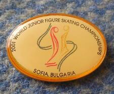 WORLD CHAMPIONSHIPS JUNIOR FIGURE SKATING BULGARIA SOFIA 2001 PIN BADGE