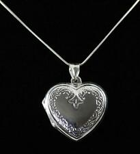 Stunning Solid 925 Sterling Silver Heart Shaped Photo Locket / Pendant jewellery