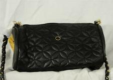 Women Small Black Golden Accents Quilted Embassy Evening Shoulder Handbag NWT