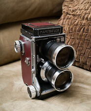 Mamiyaflex C2 TLR 6x6 Camera w/ Mamiya Sekor 13.5cm f/4.5 CLAed+ Custom leather
