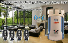 Smart Door Lock Keyless Electronic Security Entry Remote Control Lock W/4 keys