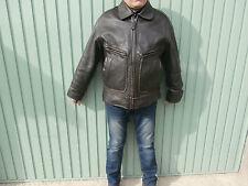 Blouson Cuir épais marron vieilli Vintage 80' aviateur taille L 52 OUTDOOR CIAO