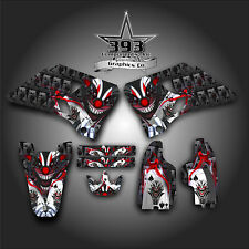 YAMAHA YZ125 YZ250 1996-2001 2-STROKE GRAPHICS KIT DECALS EVIL JOKER BLACK RED