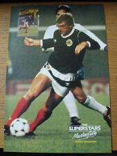 1986 Masterfile Super Stars Page/Card (A4): Scotland - Dalglish, Kenny [With Nan