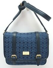 TOMMY HILFIGER XBody Messenger Flap Bag *Navy Blue/Gold *Shoulder Purse *New $79