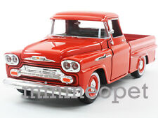 MOTORMAX 79311 1958 CHEVROLET APACHE FLEETSIDE PICK UP TRUCK 1/24 DIECAST ORANGE