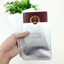 5 pcs RFID Secure Sleeves Passport Holder Blocking Protector Case Shield Safely