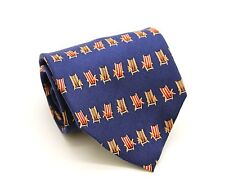 Tommy Bahama Off Island Mens Beach Deck Chair Neck Tie 100% Silk Hand Made